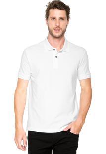 Camisa Polo Dudalina Logo Branca