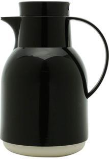 Garrafa Térmica De Plástico Com Gatilho Julia Preta 1L Bon Gourmet