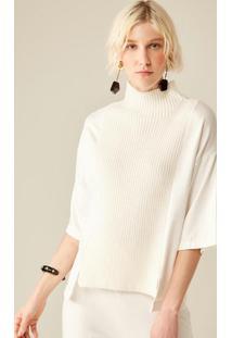 Blusa Malha Com Tricot Off White