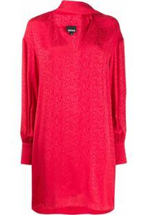 Just Cavalli Vestido Com Lenço Na Gola - Vermelho
