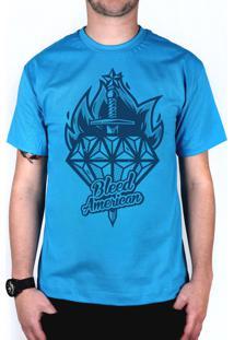 Camiseta Bleed American Diamond Turquesa