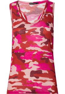 Regata Le Lis Blanc Camuflada Ii Malha Estampado Feminina (Camuflado Pink, G)