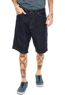 Bermuda Jeans Mcd Reta Box Azul
