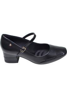 Sapato Feminino Salto Baixo Ramarim Preto