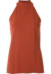 Egrey Blusa Com Faixa Lateral - Vermelho