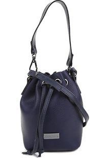 Bolsa Shoestock Bucket Mini Feminina - Feminino-Marinho