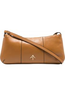 Manu Atelier Pita Baguette Shoulder Bag - Marrom