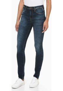 Calça Jeans Feminina Five Pockets Skinny Cintura Alta Azul Claro Calvin Klein - 40