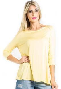 Blusa Alphorria Decote Profundo Amarelo