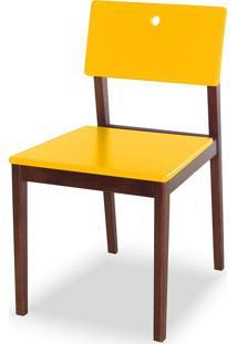 Cadeira Flip 81 Cm 921 Cacau/Amarelo - Maxima