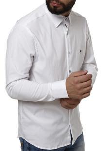Camisa Manga Longa Urban City Masculina - Masculino-Branco