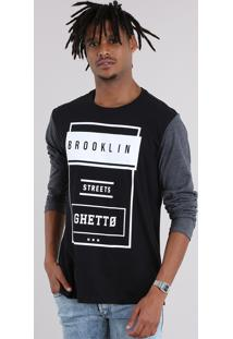 "Camiseta ""Brooklin"" Preta"