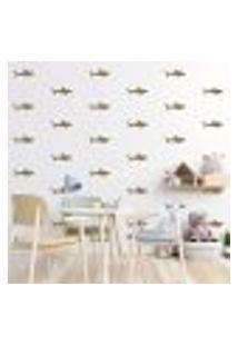 Adesivo Decorativo De Parede - Kit Com 55 Tubarão - 026Kaa12