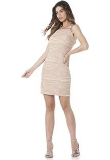 Vestido Serinah Brilho Feminino - Feminino-Rosa
