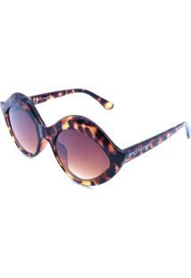 Óculos Solar Bad Rose Marrom E Lente Degrade