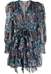 Ulla Johnson Vestido Natalia Com Estampa Floral - Azul
