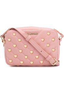 Love Moschino Bolsa Transversal Em Forma De Coração - Rosa