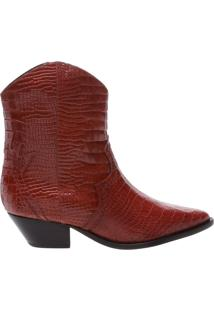 Bota Deluxe Croco Red Brown | Schutz