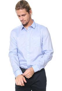 Camisa Calvin Klein Reta Bolso Azul