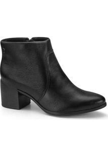 Ankle Boots Feminina Bottero Salto Bloco Preto