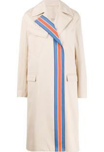 Victoria Victoria Beckham Trench Coat Listrado - Neutro