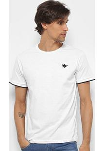 Camiseta Polo Rg 518 Friso Masculina - Masculino-Branco