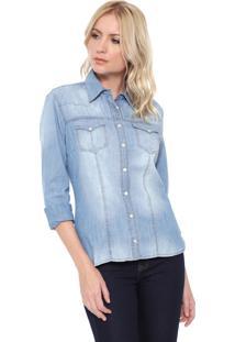 Camisa Jeans Carmim Covent Dard Azul