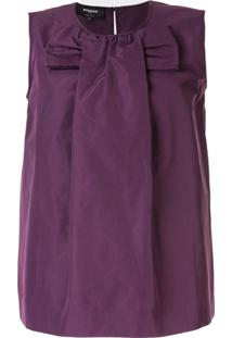 Rochas Bow Front Blouse - Roxo