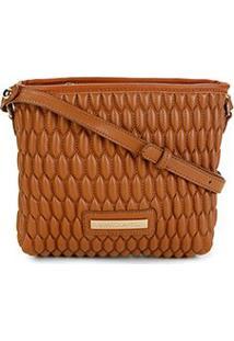Bolsa Loucos & Santos Mini Bag Matelassê Transversal Feminina - Feminino-Caramelo