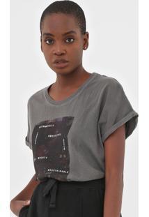 Blusa Calvin Klein Jeans Pig Grafite - Grafite - Feminino - Algodã£O - Dafiti