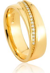 Aliança De Casamento Em Ouro 18K 6,5Mm Anatômica