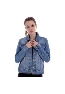 Jaqueta Jeans Feminina Operarock Azul
