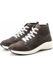 Coturno Tênis Casual Jhon Boots Clássico Cinza