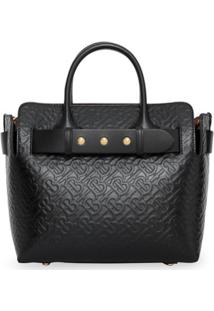 Burberry Bolsa The Small Com Cinto - Preto