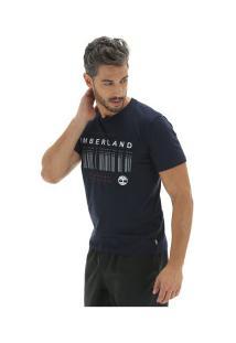 Camiseta Timberland Morse Code - Masculina - Azul Escuro