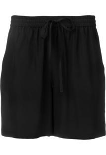 Red Valentino Drawstring Shorts - Preto