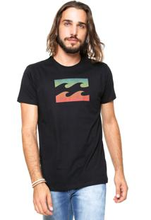 Camiseta Billabong Team Wave Preta