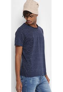Camiseta Colcci Mini Print Masculina - Masculino-Marinho