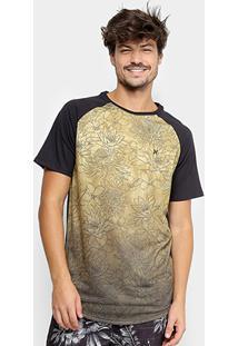 Camiseta Longline Hurley Especial Print Floral Masculina - Masculino