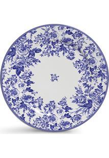 Conjunto De Pratos Cerâmica Sobremesa Blue Garden 4Pcs Cj11