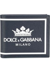 Dolce & Gabbana Carteira De Couro Com Logo - Azul