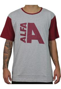 Camiseta Alfa Label Stance Bordo