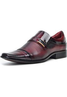 Sapato Social Pro Mais 0731A Co Vinho