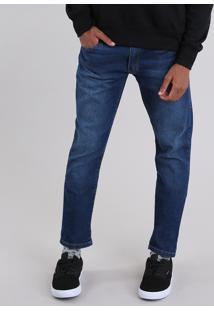 Calça Jeans Masculina Slim Azul Escuro