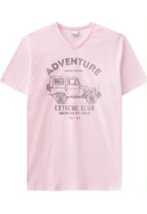 Camiseta Rosa Malwee
