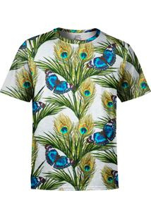 Camiseta Estampada Over Fame Floral Borboletas