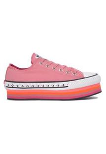 Tênis Converse Chuck Taylor All Star Platform Layer Ox Rosa Palido/Pink Fluor Ct13960002.35