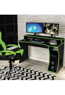 Mesa Gamer Fremont- Preta & Verde- 87,5X130X59Cmpolitorno