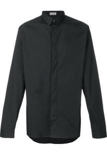 Dior Homme Camisa Com Logo Bordado - Preto