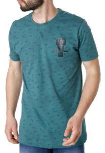 Camiseta Manga Curta Masculina Verde